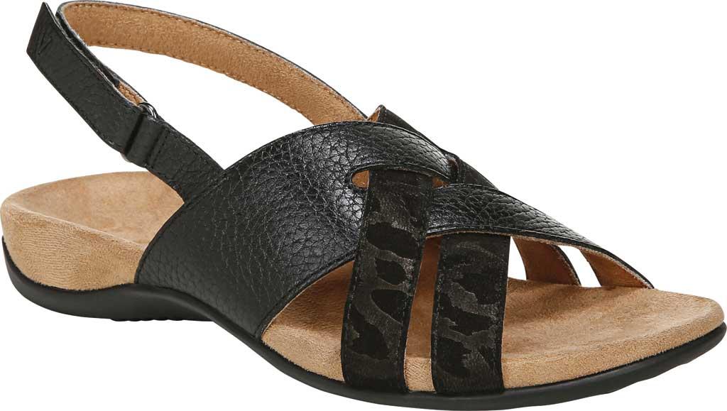 Women's Vionic Eira Strappy Sandal, Black Tumbled Leather, large, image 1