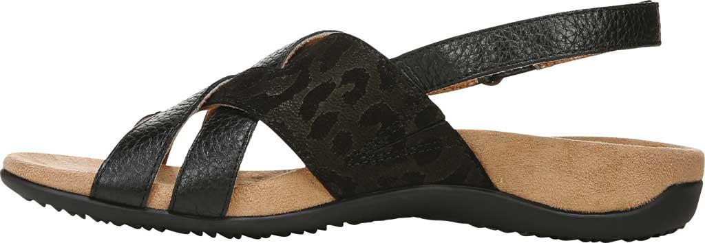 Women's Vionic Eira Strappy Sandal, Black Tumbled Leather, large, image 2