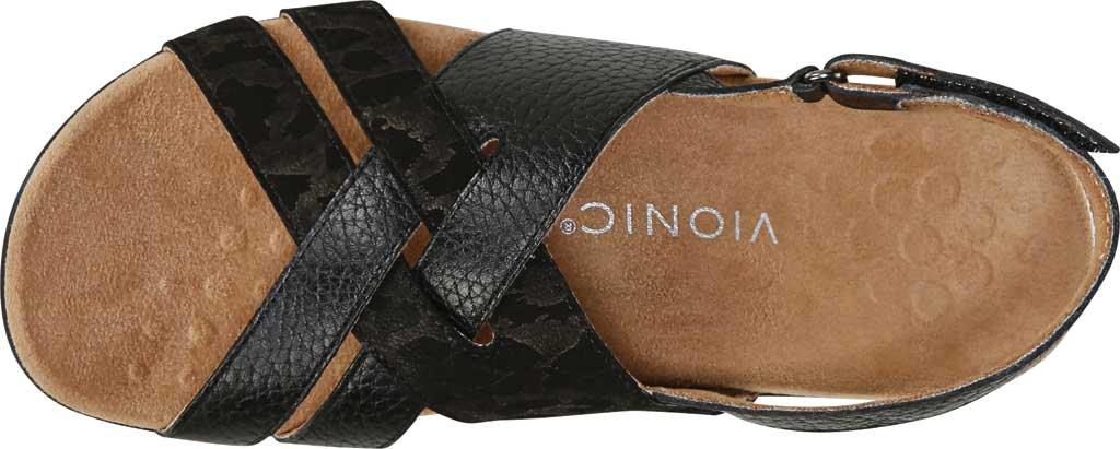 Women's Vionic Eira Strappy Sandal, Black Tumbled Leather, large, image 4