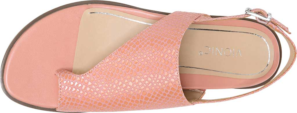 Women's Vionic Ella Toe Loop Sandal, Blooming Dahlia Lizard Print Leather, large, image 5