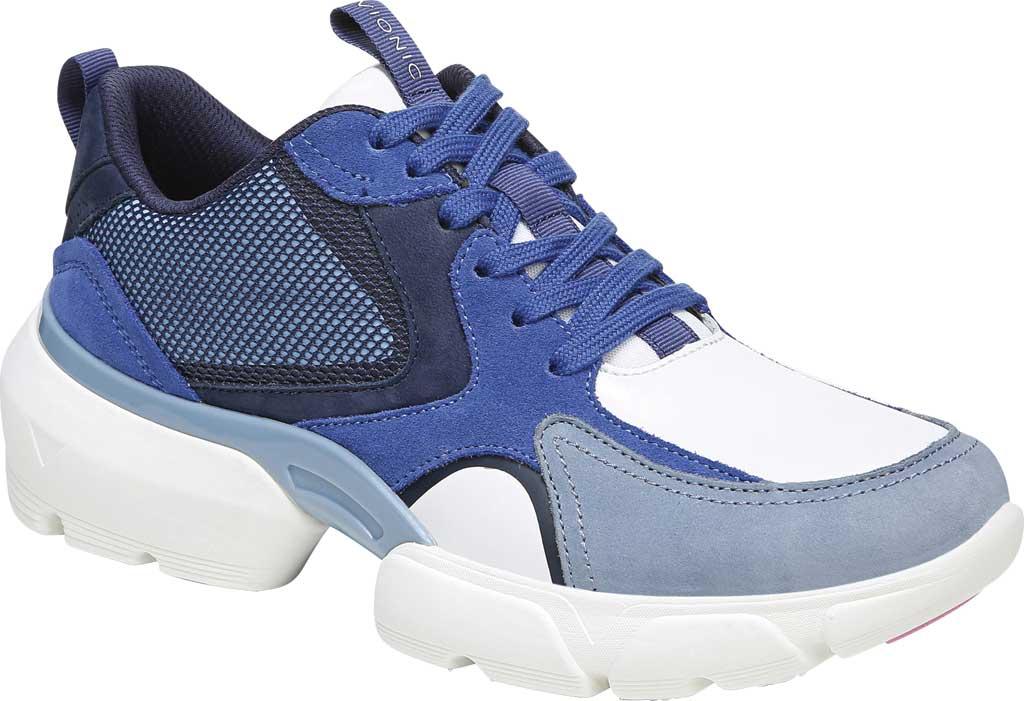 Women's Vionic Aris Sneaker, Indigo Leather/Suede, large, image 1