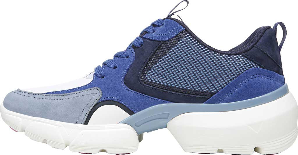 Women's Vionic Aris Sneaker, Indigo Leather/Suede, large, image 3