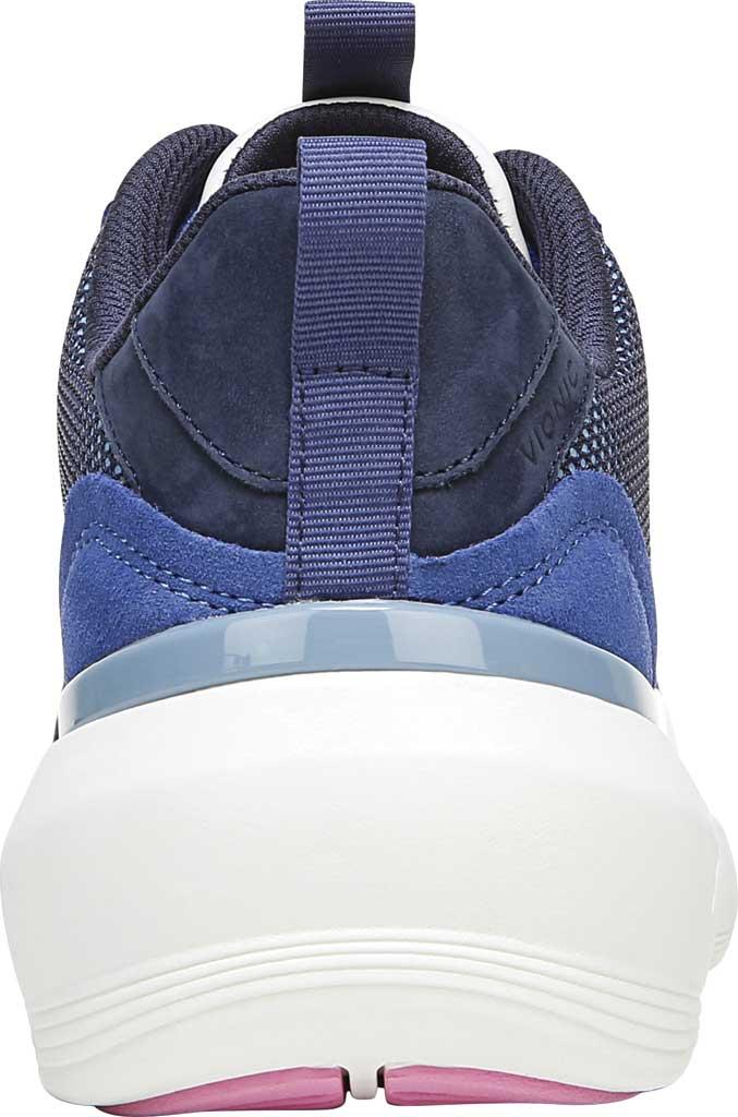 Women's Vionic Aris Sneaker, Indigo Leather/Suede, large, image 4