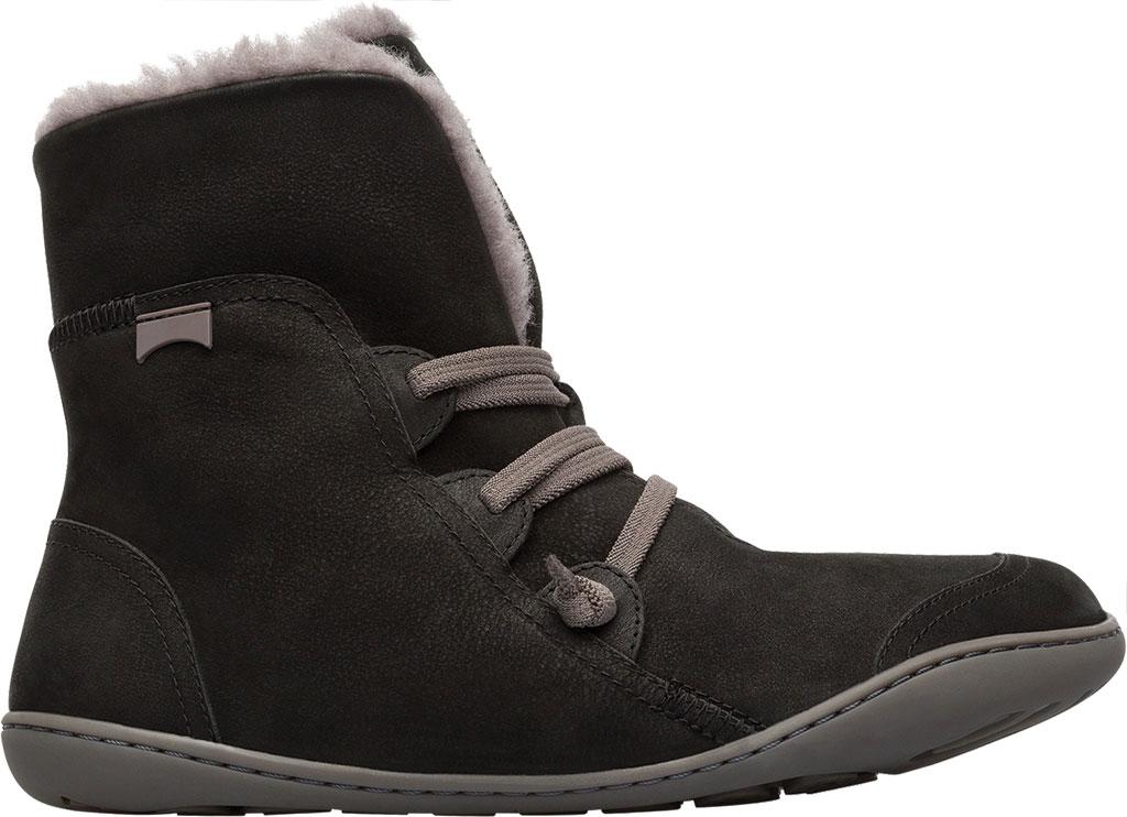 Women's Camper Peu Cami Boot, Black/Grey Nubuck, large, image 2