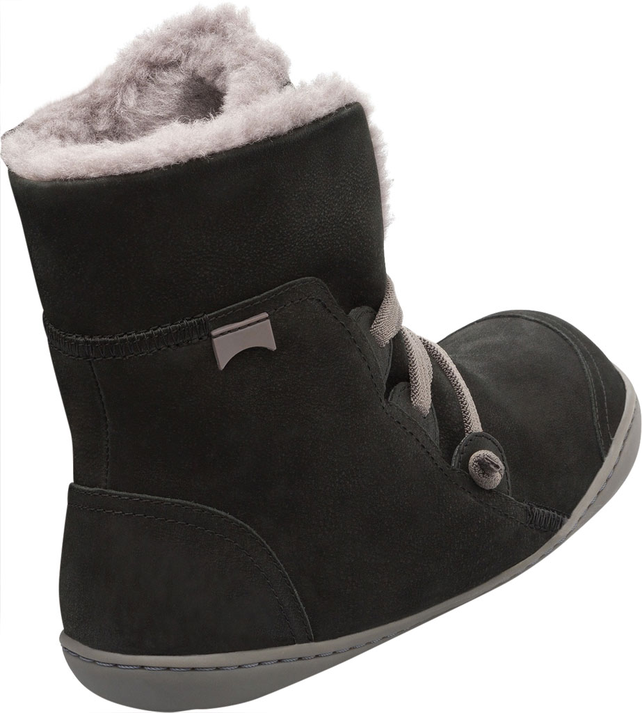 Women's Camper Peu Cami Boot, Black/Grey Nubuck, large, image 3