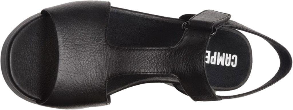 Women's Camper Balloon T Strap Sandal, Black Calf Full Grain Leather, large, image 4