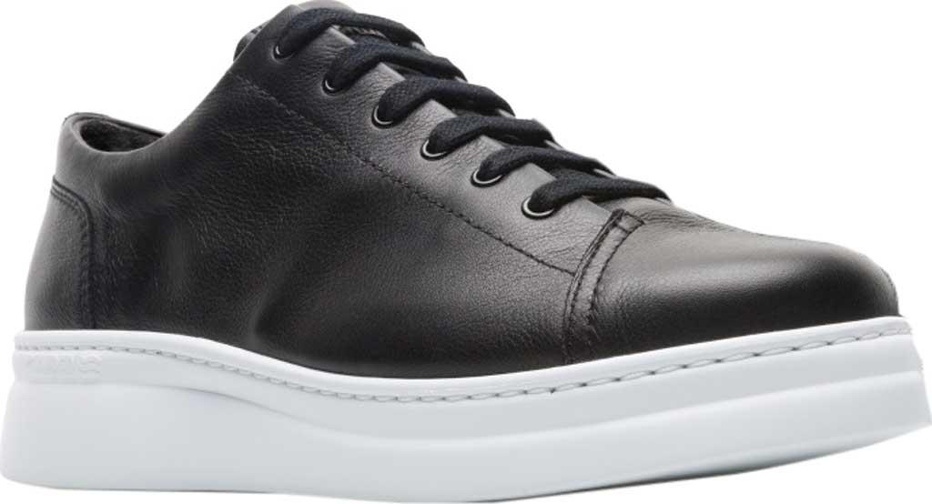 Women's Camper Runner Up Sneaker, Black/White Full Grain Leather, large, image 1
