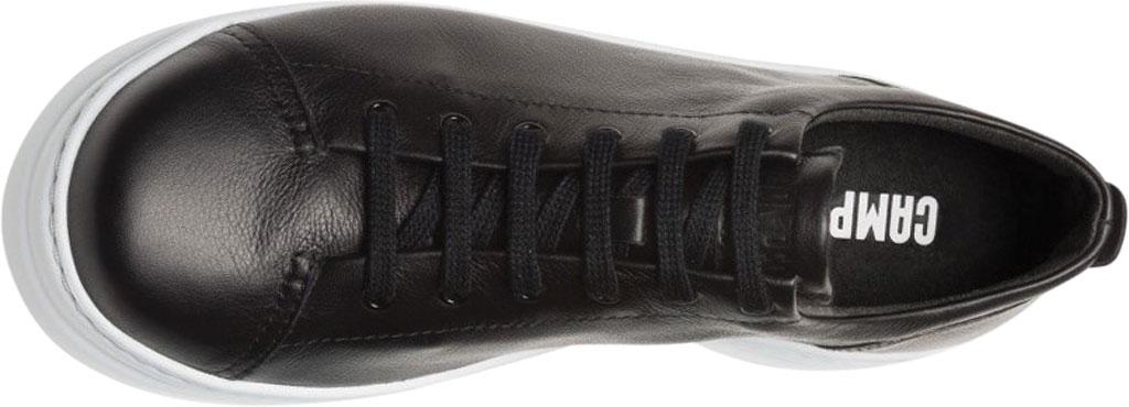 Women's Camper Runner Up Sneaker, Black/White Full Grain Leather, large, image 4
