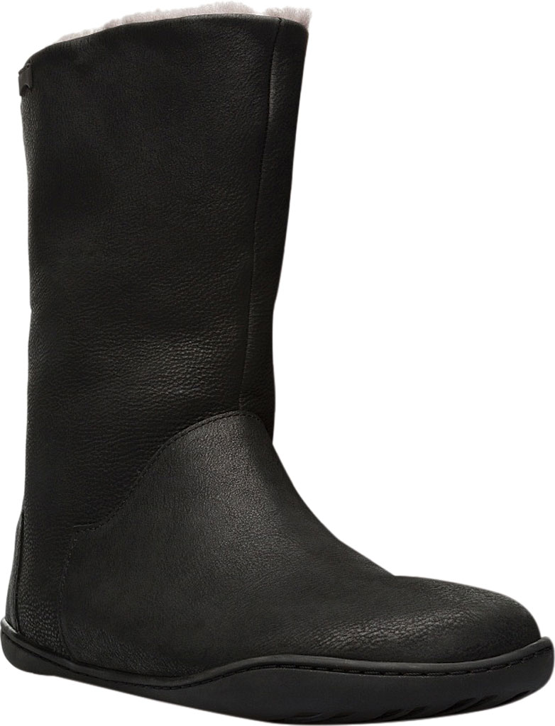 Women's Camper Peu Cami Mid Calf Boot, Black Leather, large, image 1
