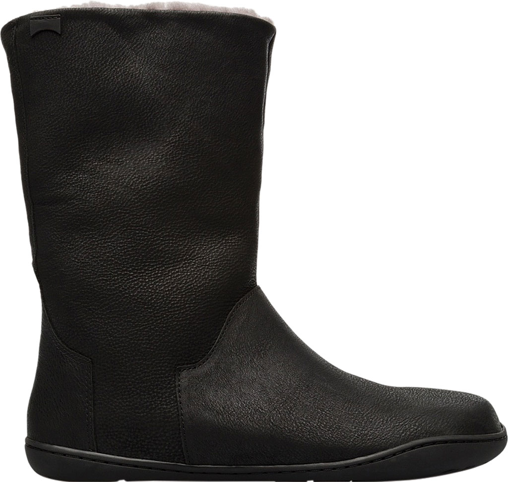 Women's Camper Peu Cami Mid Calf Boot, Black Leather, large, image 2