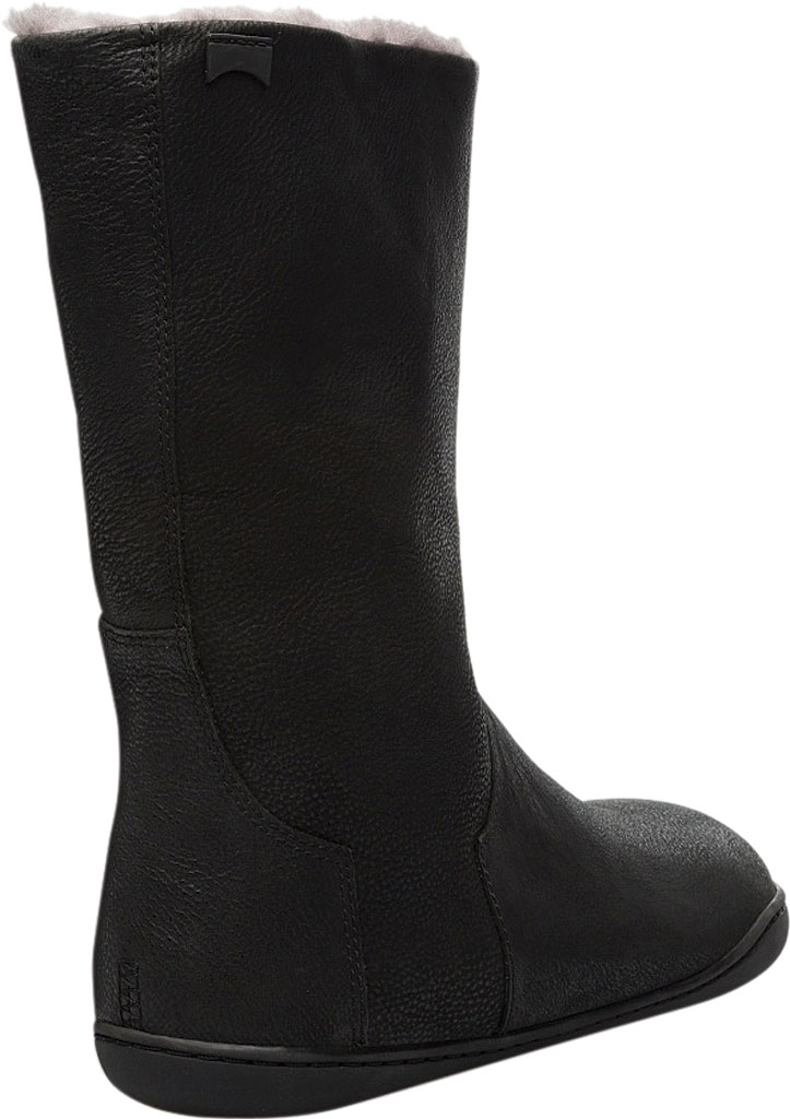 Women's Camper Peu Cami Mid Calf Boot, Black Leather, large, image 3