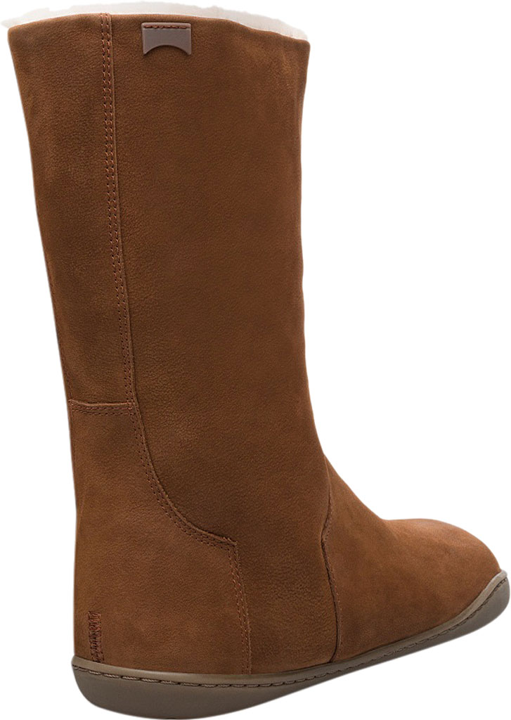 Women's Camper Peu Cami Mid Calf Boot, Medium Brown Leather, large, image 3