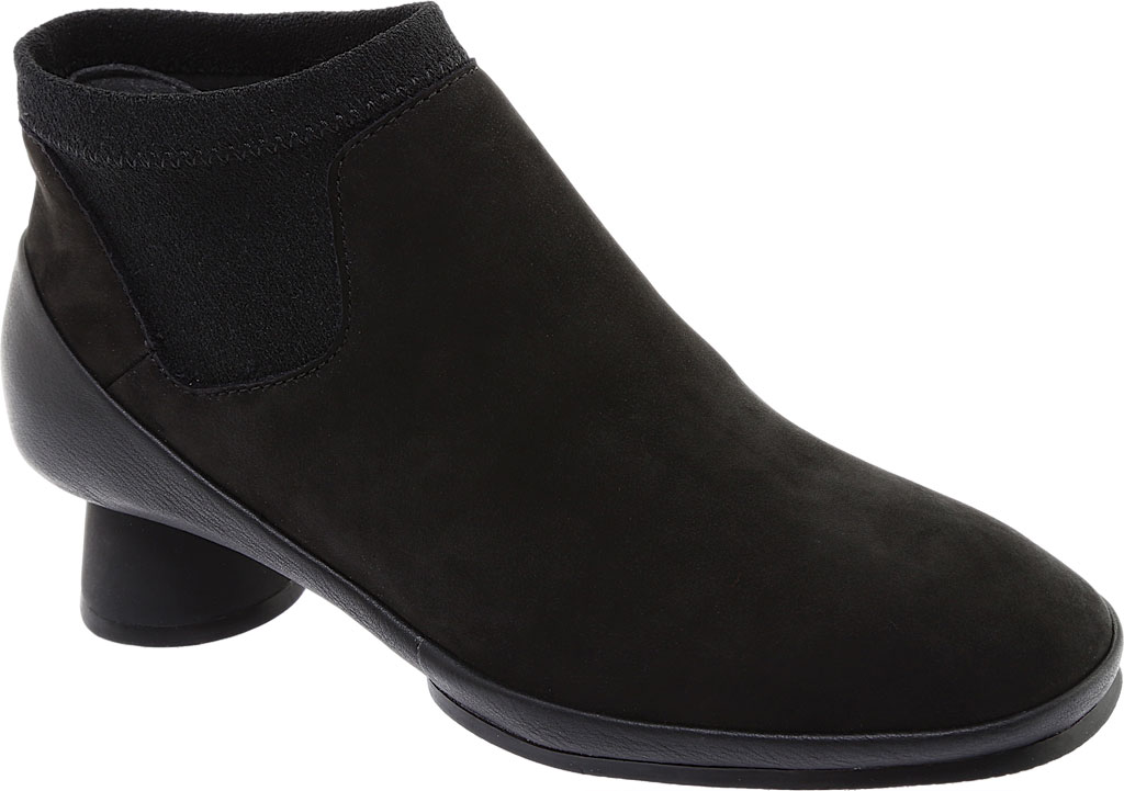 Women's Camper Alright Ankle Boot, Black Leather/Elastic Fabric, large, image 1