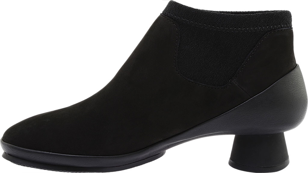Women's Camper Alright Ankle Boot, Black Leather/Elastic Fabric, large, image 3