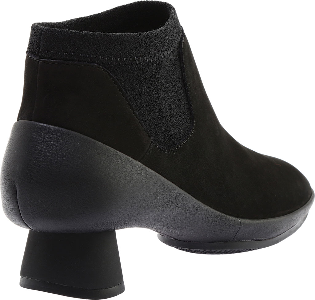 Women's Camper Alright Ankle Boot, Black Leather/Elastic Fabric, large, image 4