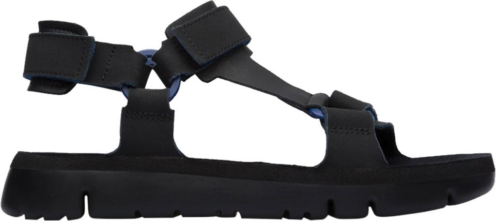 Men's Camper Oruga Sport Sandal, Black/Blue Full Grain Leather, large, image 2