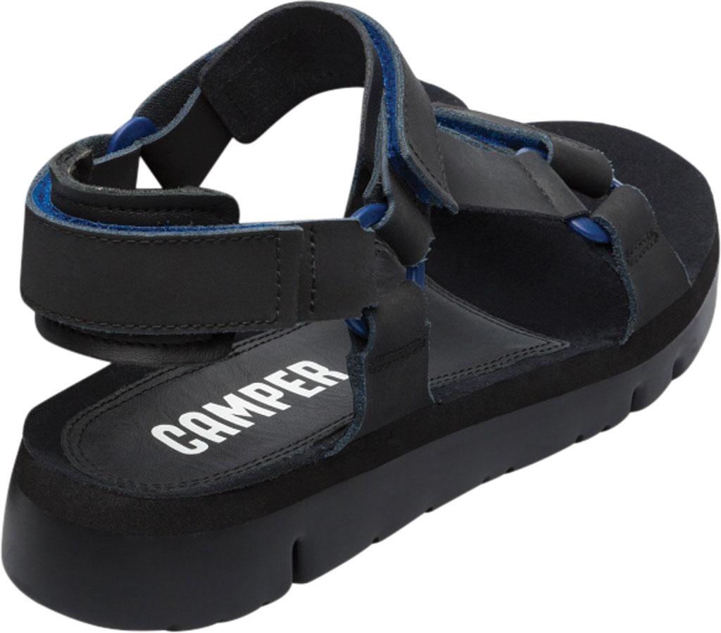 Men's Camper Oruga Sport Sandal, Black/Blue Full Grain Leather, large, image 3