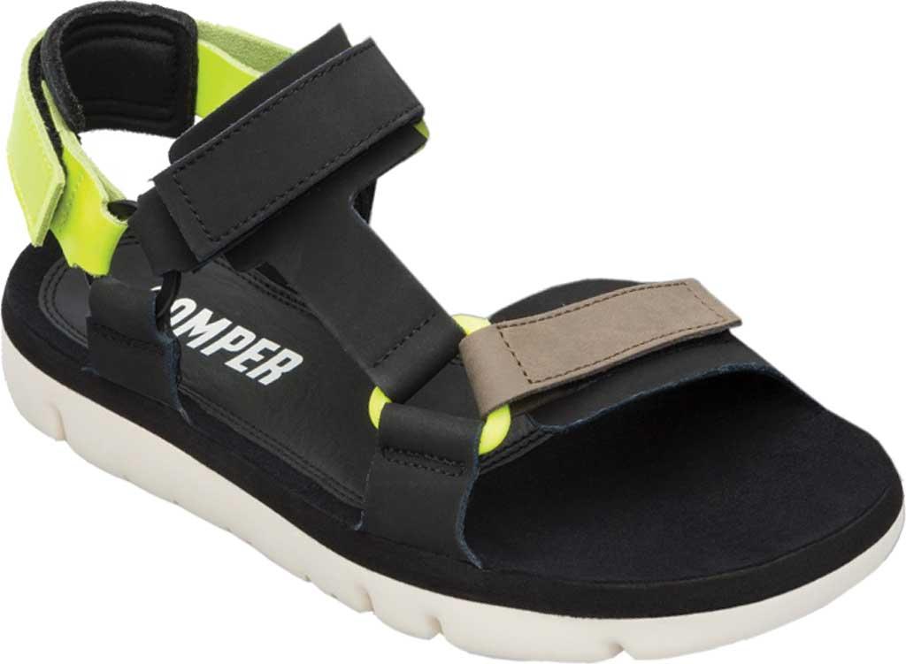 Men's Camper Oruga Sport Sandal, Black/Multi Full Grain Leather, large, image 1