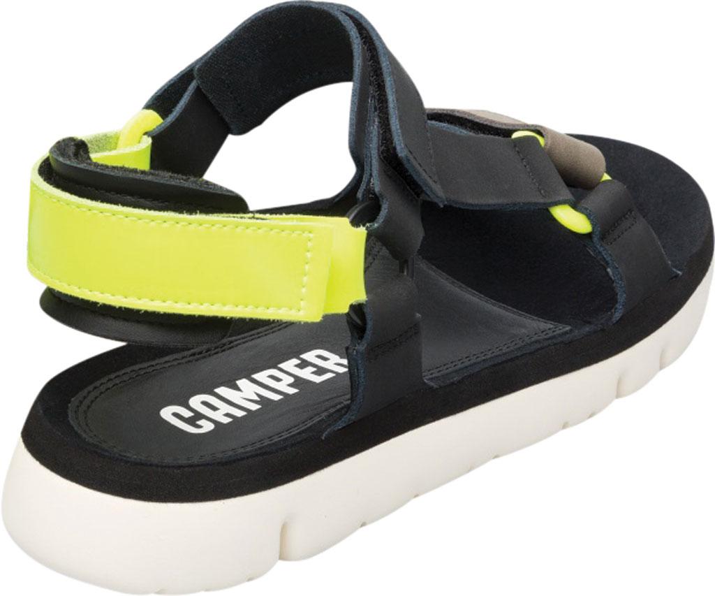 Men's Camper Oruga Sport Sandal, Black/Multi Full Grain Leather, large, image 3
