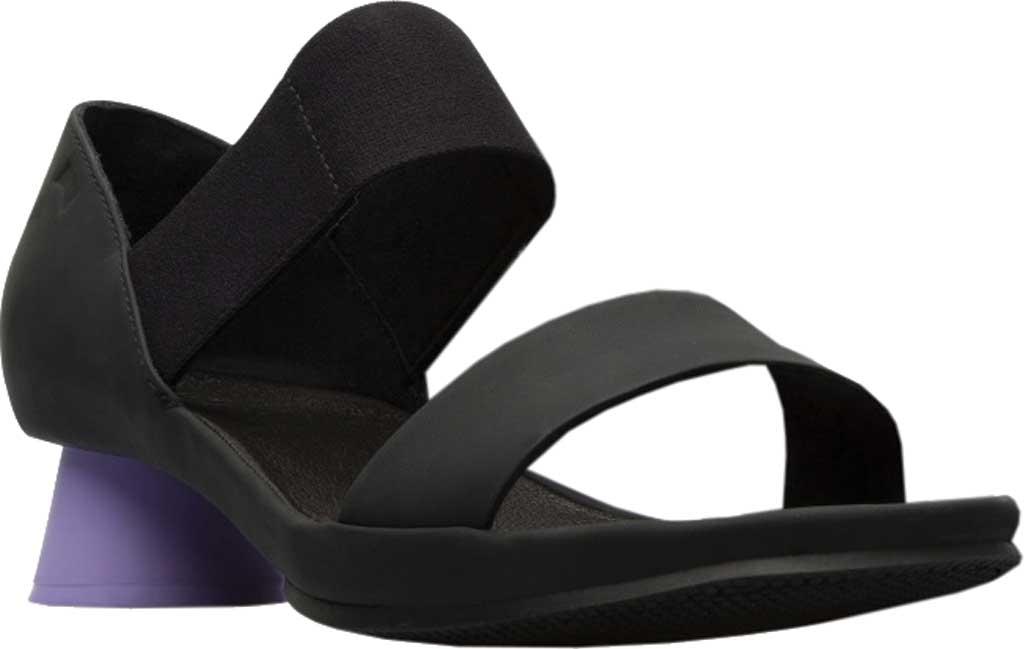 Women's Camper Alright Strappy Sandal, Black/Purple Leather, large, image 1