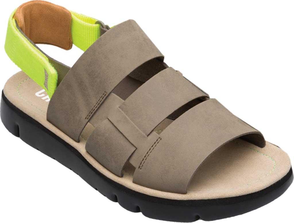 Men's Camper Oruga Sandal, Tan Full Grain Leather/Technical Fabric, large, image 1