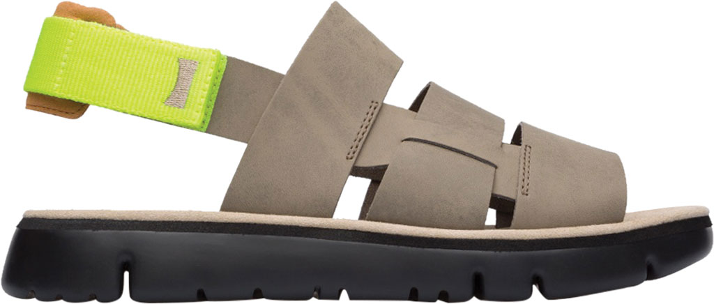 Men's Camper Oruga Sandal, Tan Full Grain Leather/Technical Fabric, large, image 2