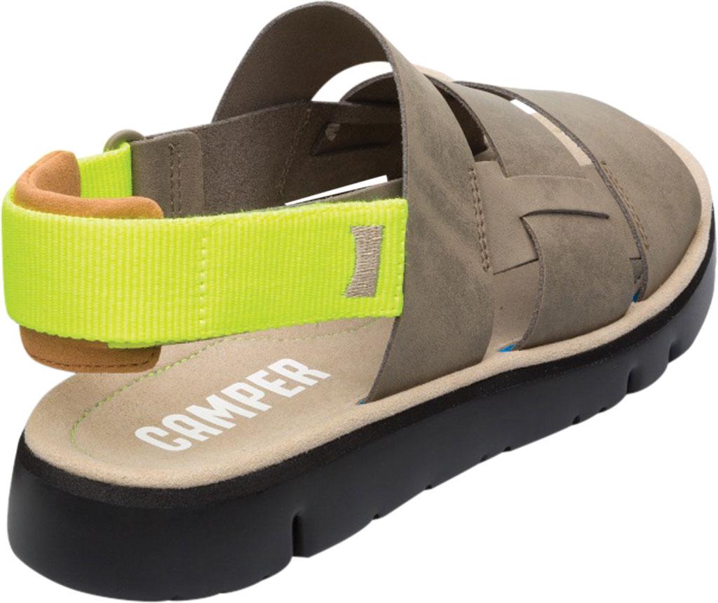 Men's Camper Oruga Sandal, Tan Full Grain Leather/Technical Fabric, large, image 3