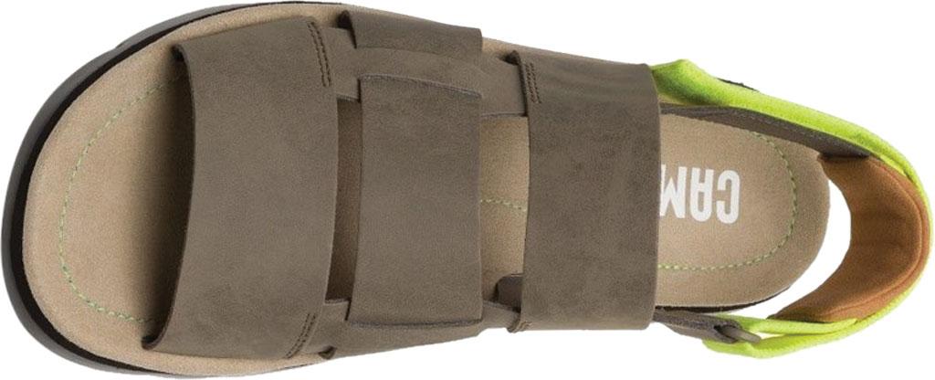 Men's Camper Oruga Sandal, Tan Full Grain Leather/Technical Fabric, large, image 4