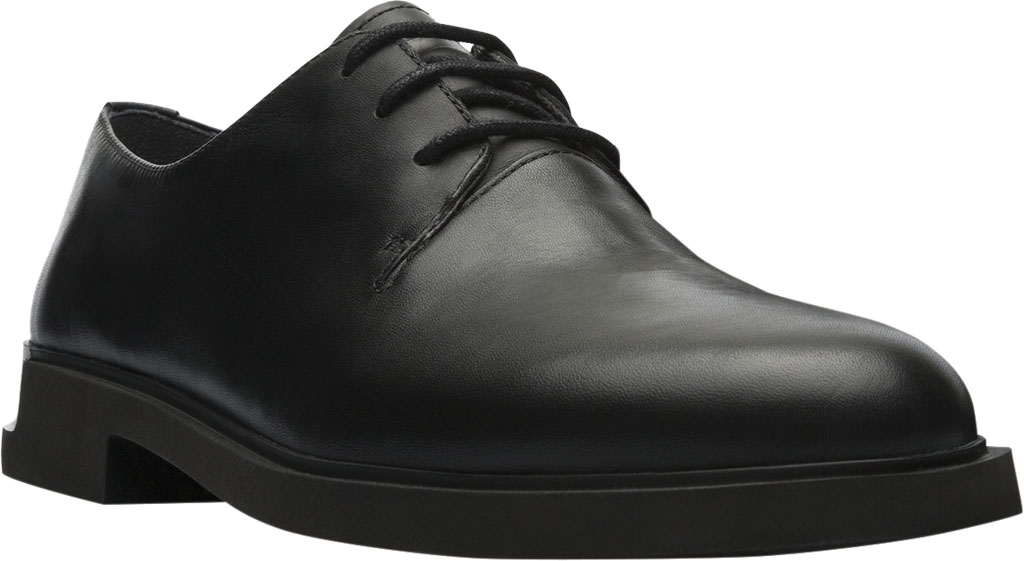 Women's Camper Iman Oxford, Black Smooth Leather, large, image 1