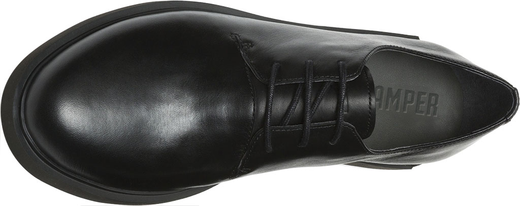 Women's Camper Iman Oxford, Black Smooth Leather, large, image 4