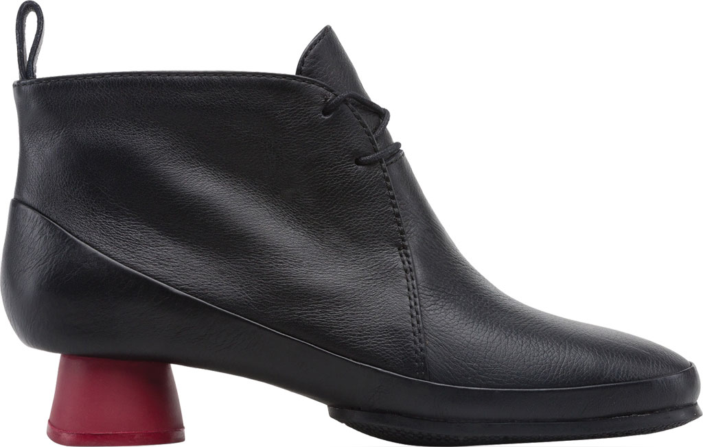 Women's Camper Alright Lace Up Bootie, Black Calfskin, large, image 2