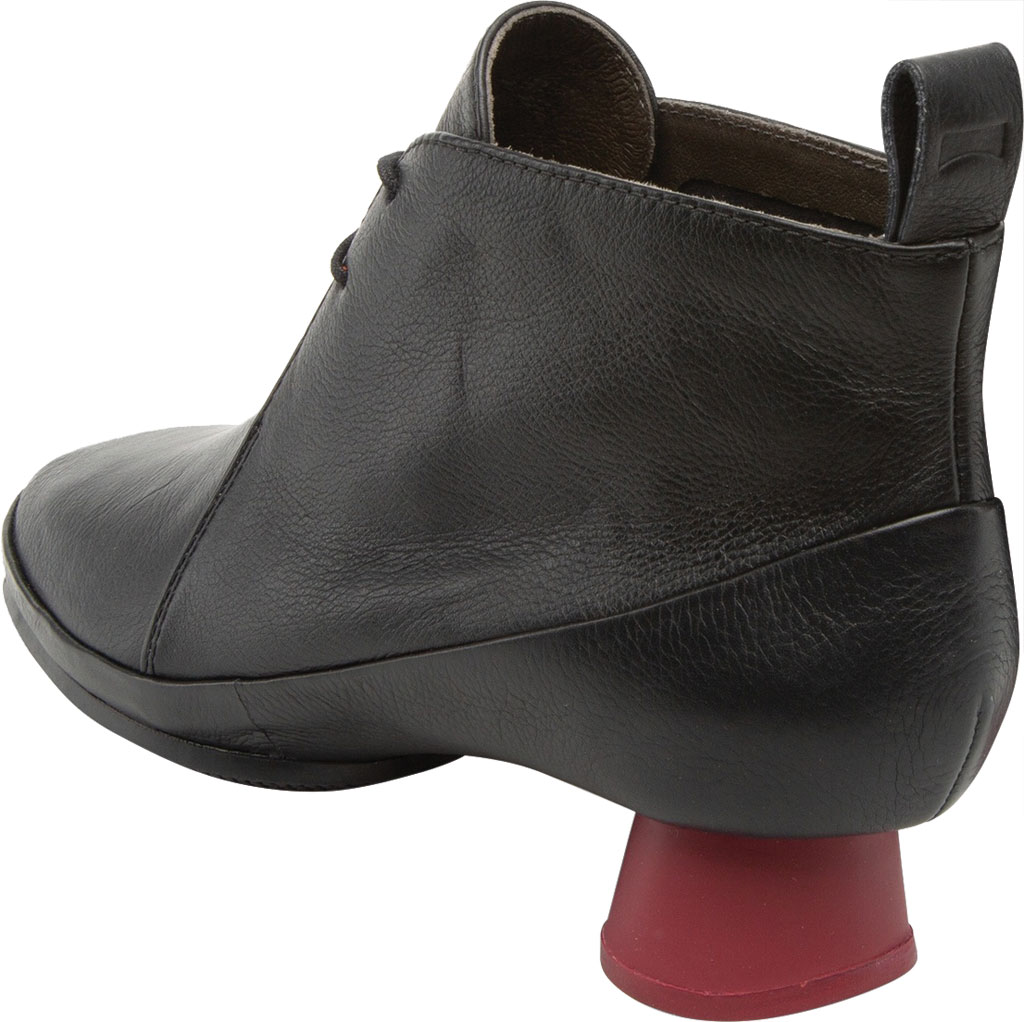 Women's Camper Alright Lace Up Bootie, Black Calfskin, large, image 3