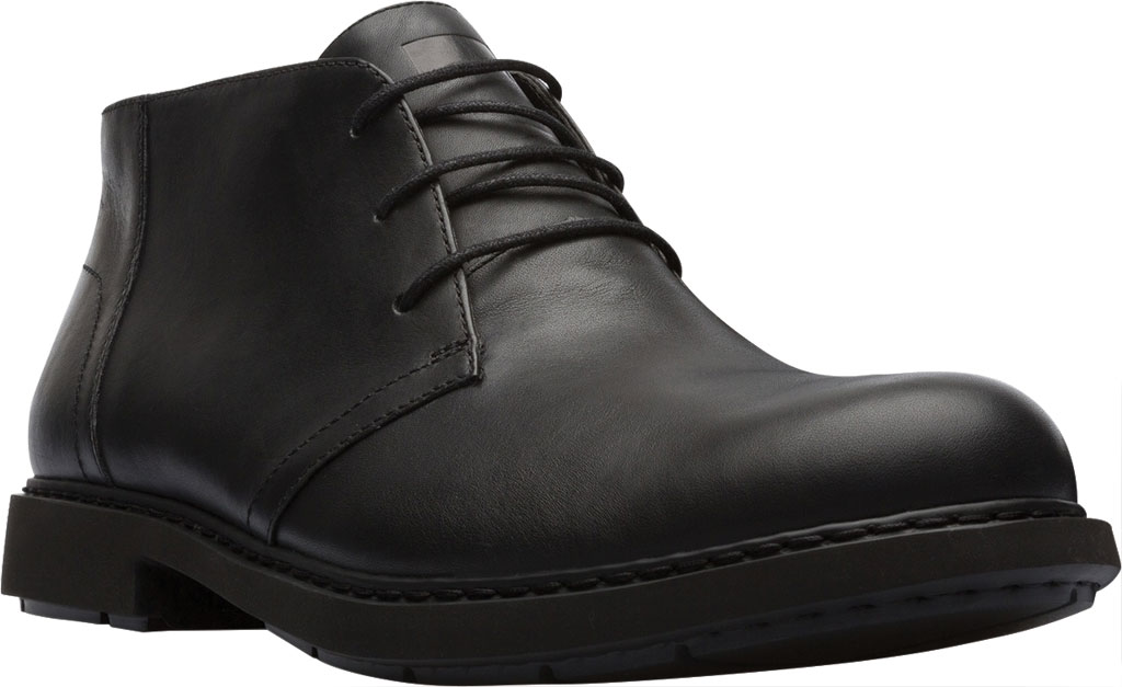 Men's Camper Mil Chukka Boot, Black Calfskin, large, image 1