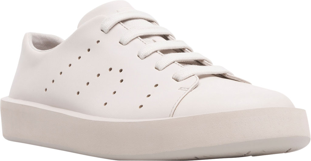 Men's Camper Courb Low Top Sneaker, Beige Smooth Leather, large, image 1
