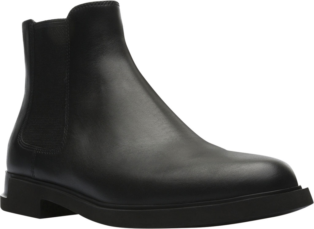 Women's Camper Iman Chelsea Boot, Black Smooth Leather, large, image 1