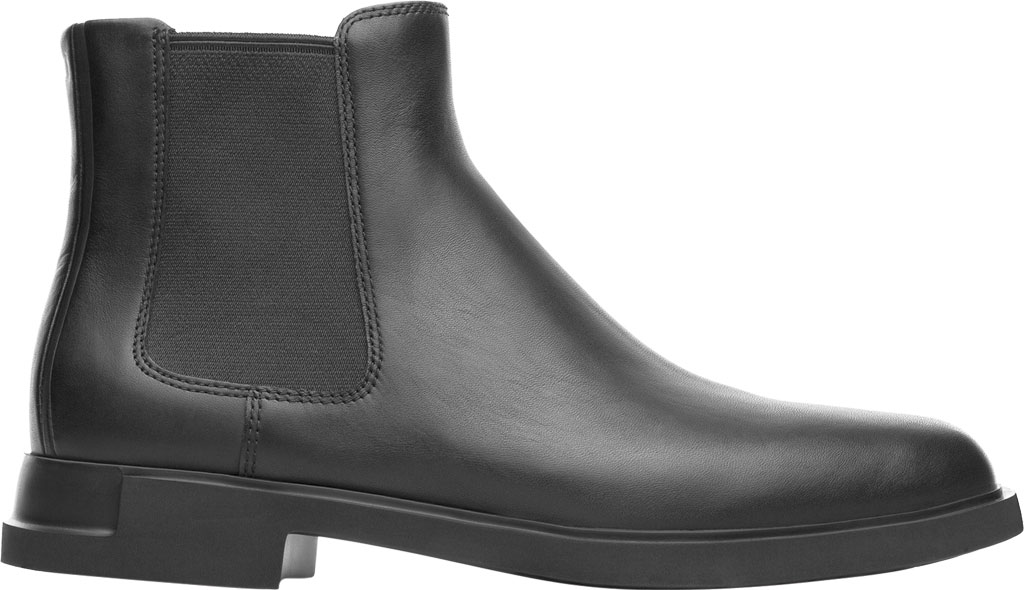 Women's Camper Iman Chelsea Boot, Black Smooth Leather, large, image 2