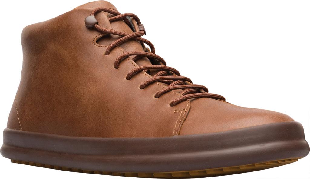 Men's Camper Chasis High Top Sneaker, Brown Calfskin, large, image 1