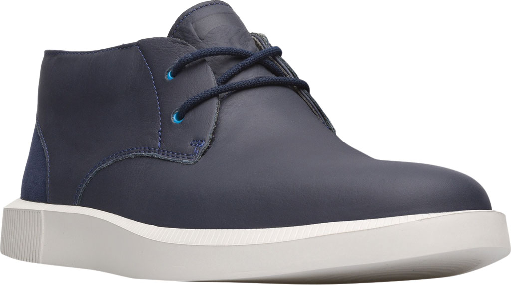 Men's Camper Bill Chukka Boot, Blue Smooth Leather, large, image 1