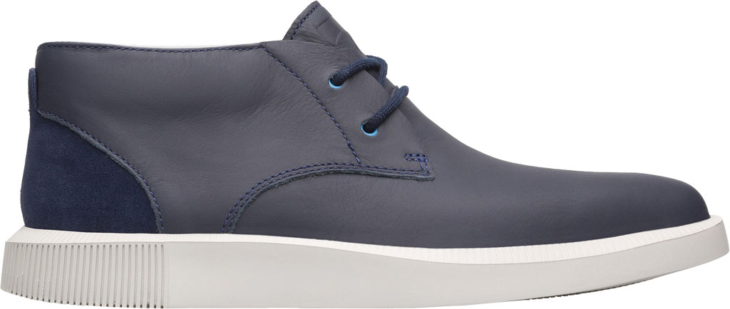 Men's Camper Bill Chukka Boot, Blue Smooth Leather, large, image 2