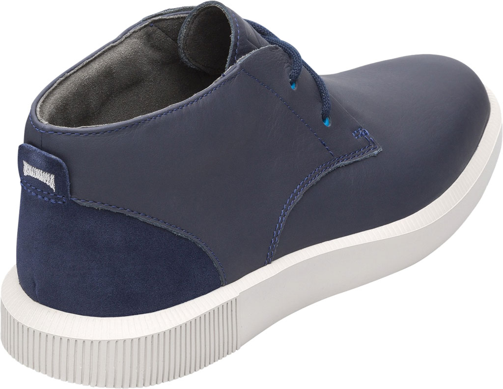 Men's Camper Bill Chukka Boot, Blue Smooth Leather, large, image 3