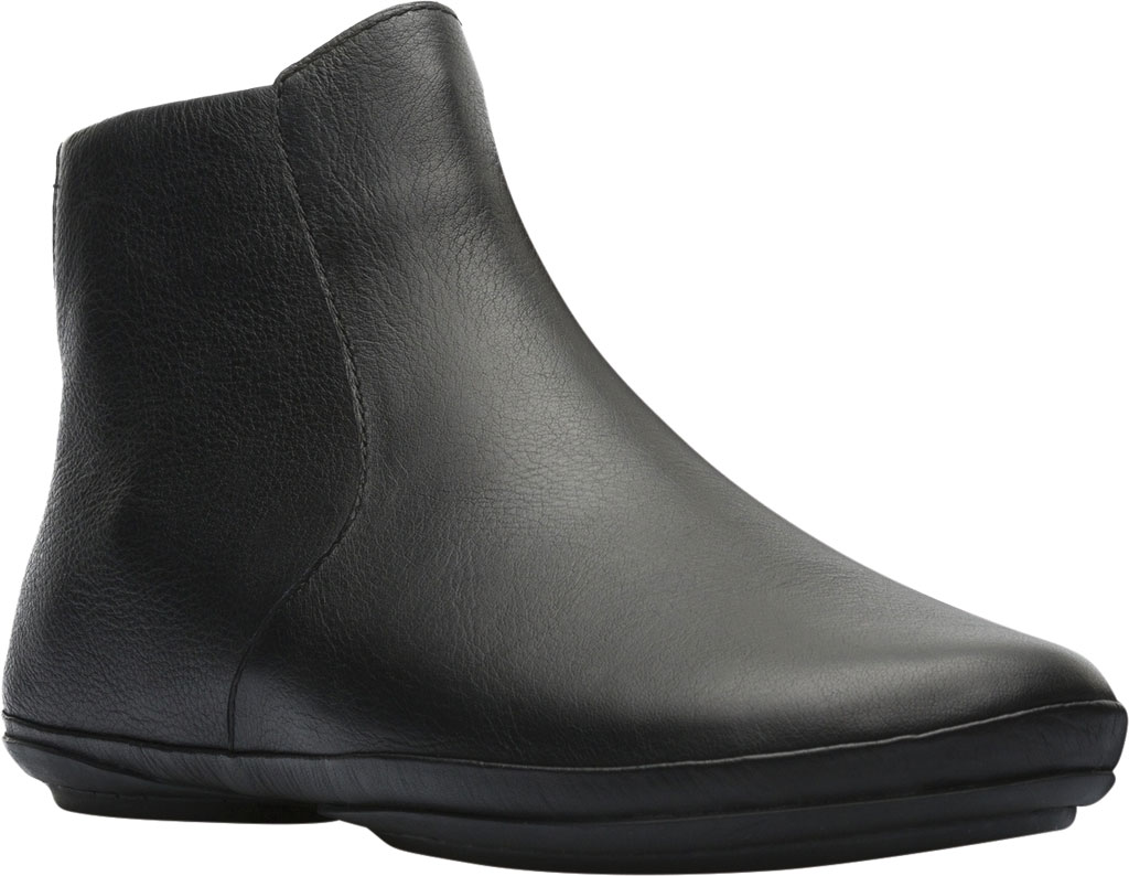 Women's Camper Right Ankle Boot, Black Smooth Leather, large, image 1