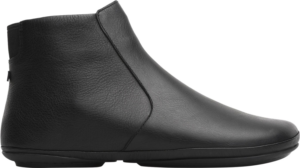 Women's Camper Right Ankle Boot, Black Smooth Leather, large, image 2