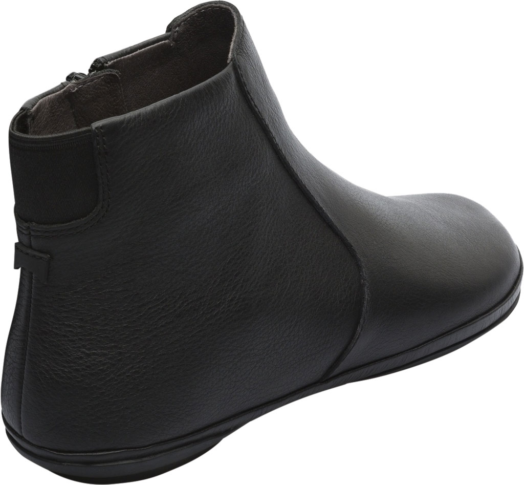 Women's Camper Right Ankle Boot, Black Smooth Leather, large, image 3