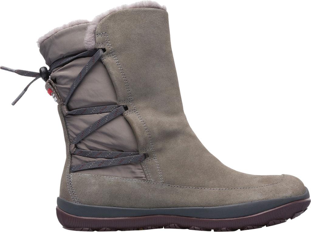 Women's Camper Peu Pista Winter Boot, Grey Nubuck/Technical Fabric, large, image 2