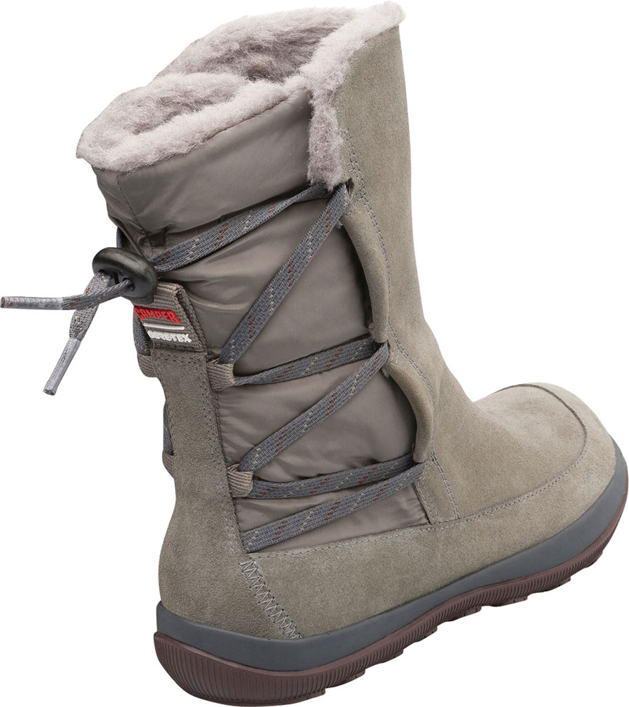 Women's Camper Peu Pista Winter Boot, Grey Nubuck/Technical Fabric, large, image 3