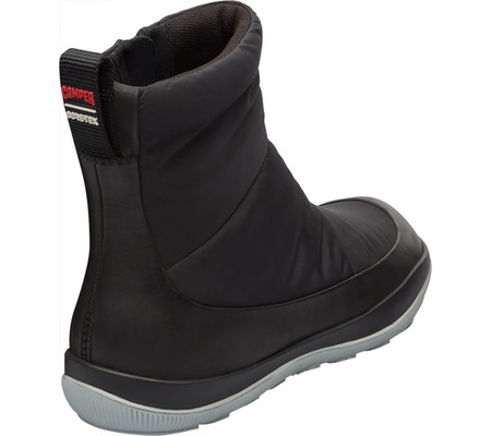 Women's Camper Peu Pista Pull-On Winter Boot, Black Technical Fabric/Polyester, large, image 2