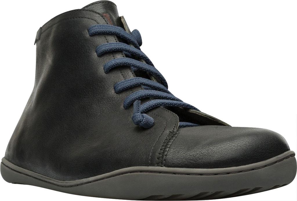 Men's Camper Peu High Top Sneaker, Black Vegetal Tanned Calfskin, large, image 1