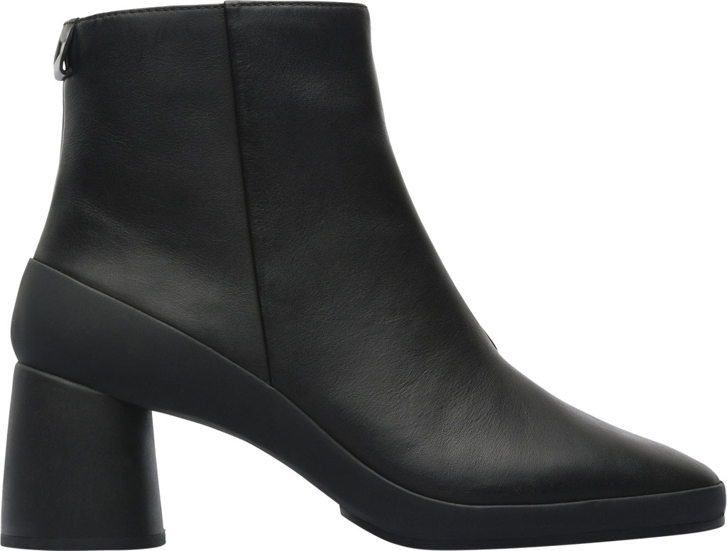 Women's Camper Upright Ankle Boot, Black Smooth Leather, large, image 2