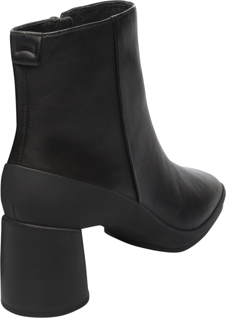 Women's Camper Upright Ankle Boot, Black Smooth Leather, large, image 3