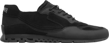Men's Camper Nothing Sneaker, Black Polyester/Nubuck/Calfskin, large, image 2